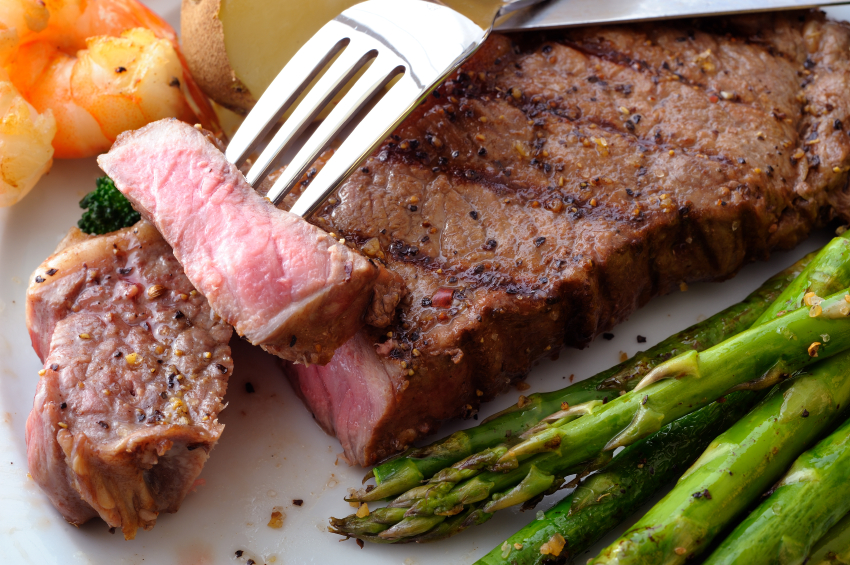 New York Steak on a Fork